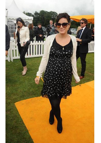 Lily Allen in Dolce & Gabbana A/W 11-12 star dress