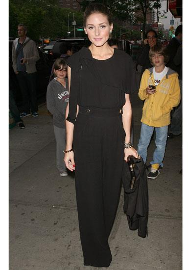 Olivia Palermo in a Whistles jumpsuit at a film screening in New York.
