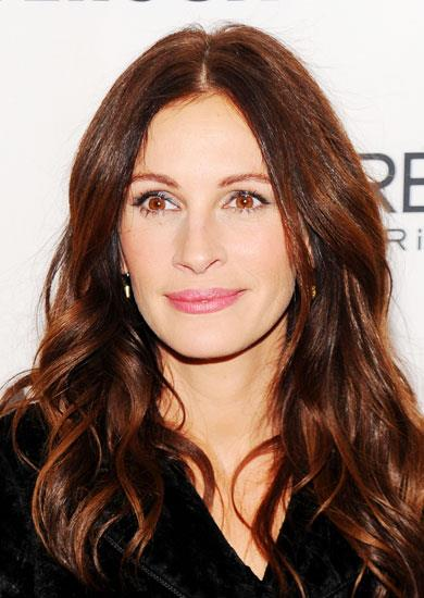 "2. GO WITH GLOSSY WAVES. ""Long waves work for everyone if they're styled appropriately,"" says Serge Normant, who coifs Julia Roberts. Keep it glossy with a smooth part and ends, and avoid teasing. Key product: Ojon Hair Shine & Protect Glossing Mist, $55, 1800 004 507. Pictured Julia Roberts."