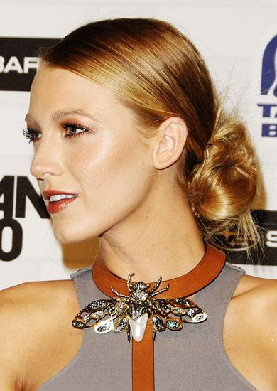 "6. KEEP UP-'DOS EASY ""These unstructured hairstyles work on anyone,"" says Normant, adding, ""Stiff styles are ageing."" The key to keeping a Blake Lively chignon looking effortless is a loose, textured twist. Volume makes Demi Moore's messy bun, while a controlled-curl up-'do will channel elegance. Pictured Blake Lively."