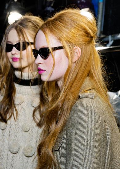 "7. EMBRACE THE 60'S. Sixties-inspired hair had a major moment on the runways recently, ranging from Hitchcock looks to a more preppy take, as seen at Moschino Cheap and Chic, where it had a slight wave, was teased at the crown and had a half-up/half-down effect. ""We started with a blow-dry then added some texture,"" says Pantene global stylist ambassador Sam McKnight. ""Then we backcombed the crown section and pulled this back into a ponytail."" Key product: Pantene Pro-V Style Body Builder Mousse, $7, 1800 028 280. Pictured: Moschino Cheap and Chic A/W 11-12."