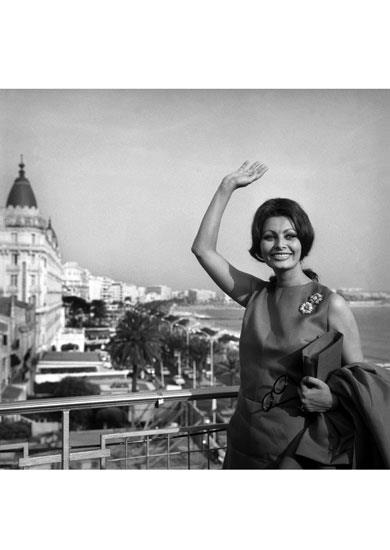 The Italian Actress Sophia Loren, President Of The Jury Of The Twentieth Film Festival On The Roof Of The Palais Des Festivals In Cannes On May 6Th, 1966.