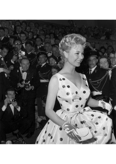 American actress Mitzi Gaynor at the Cannes Film Festival, 5th May 1958.