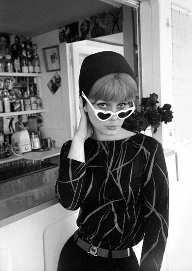 France Anglade, French actress. Cannes festival, 1960.