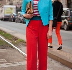 Street style trend: rainbow pants