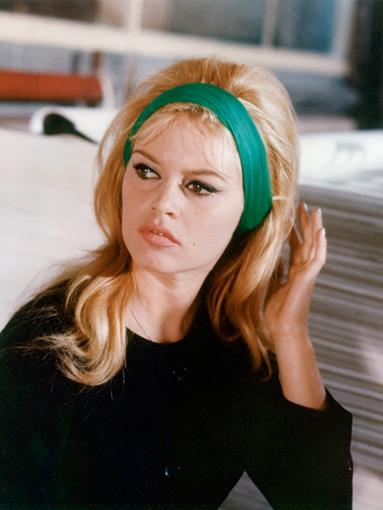 Brigitte Bardot's mussed head of blonde curls put a french spin on the blonde bombshell look