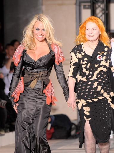Pamela Anderson has gone from Baywatch beach goddess to the trash-tastic face for Vivienne Westwood.