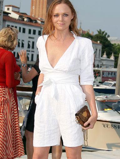 Stella McCartney wearing her own label in Venice