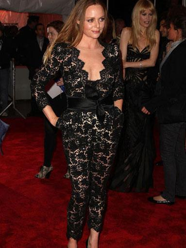 Stella McCartney in a jumpsuit from her autumn/winter 2009-2010 collection