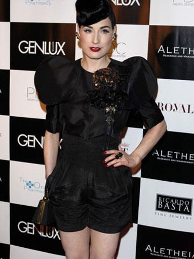 Dita Von Teese in a Dolce & Gabbana romper