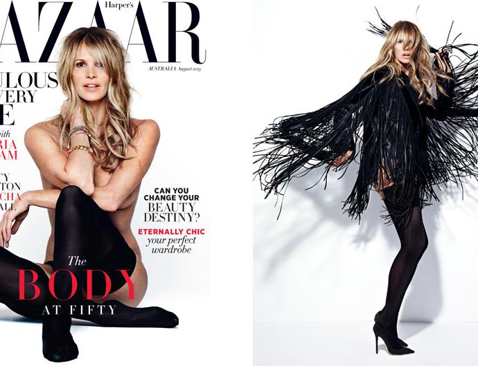 Elle Macpherson Harper's Bazaar cover