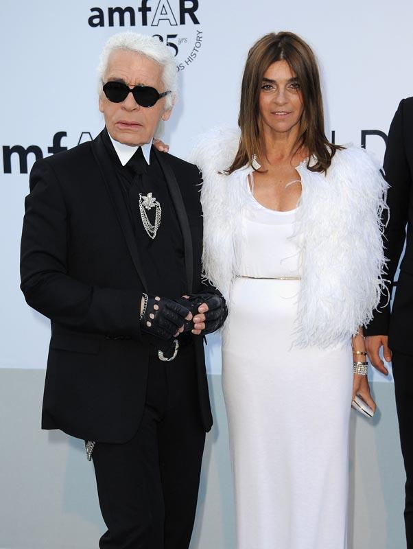 """<strong>On looking sharp: </strong> <br><br>""""'Sweatpants are a sign of defeat. You lost control of your life so you bought some sweatpants."""" <br><br><em>With Carine Roitfeld. </em>"""