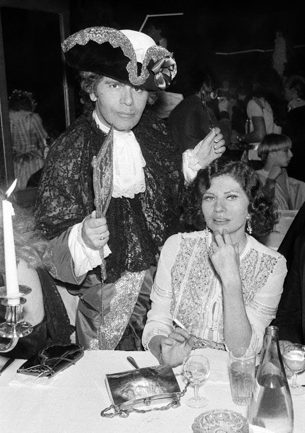 """<strong>On his childhood: </strong> <br><br>""""When I was four I asked my mother for a valet for my birthday."""" - W <br><br><em>With Princess Soraya at the Venetian Ball at the Palace in Paris, in 1978.</em>"""