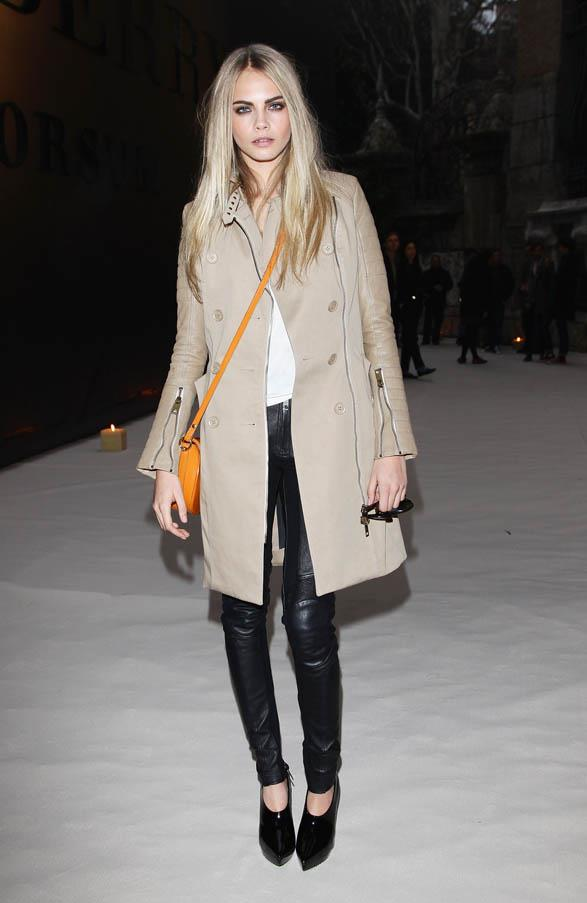 At the Burberry Prorsum Fashion Show as part of Milan's Mens Fashion Week A/W 2011 on January 15, 2011.