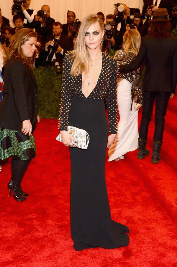 """In Burberry at the Costume Institute Gala for the """"PUNK: Chaos to Couture"""" exhibition on May 6, 2013."""