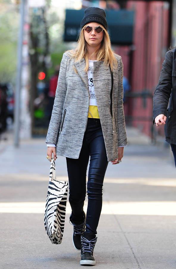 On the streets of New York on April 20, 2013.