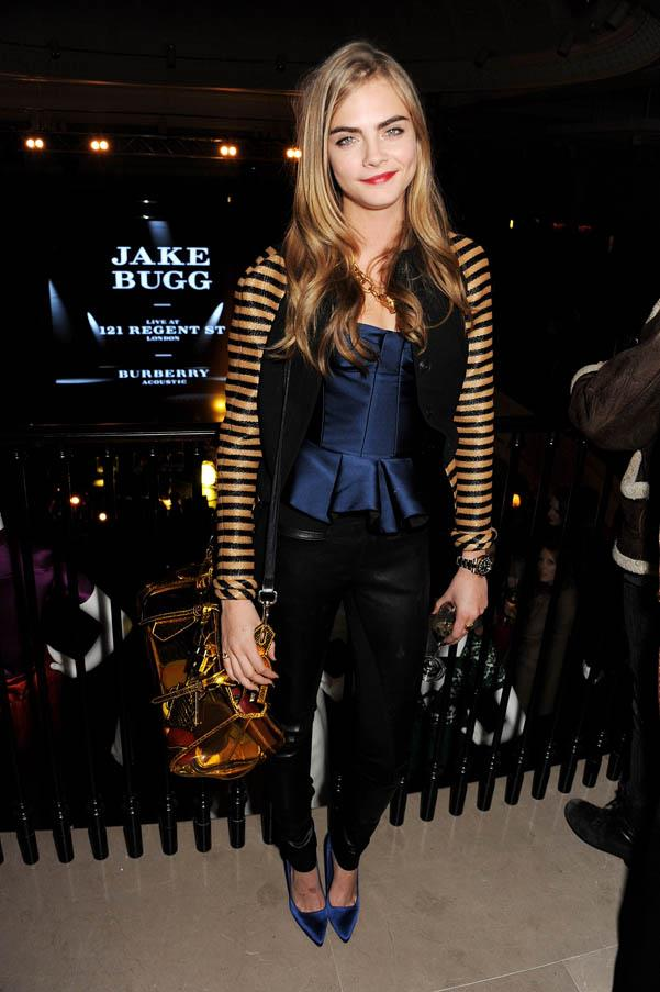 In Burberry at the Burberry Live at 121 Regent Street event on January 31, 2013.