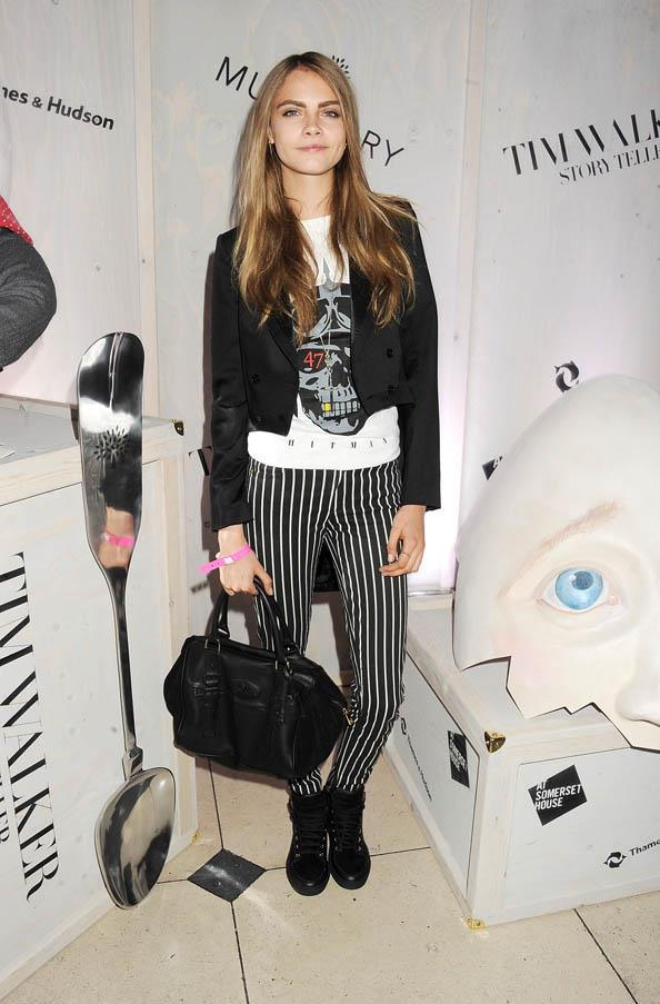At a private view of 'Tim Walker: Story Teller' supported by Mulberry at Somerset House, London on October 17, 2012.