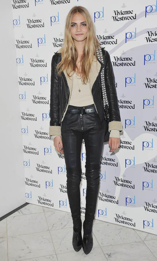 At the launch of Vivienne Westwood's Get A Life Palladium jewellery launch party, London on February 18, 2011.