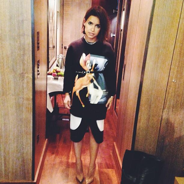 "Miroslava Duma in Givenchy A/W 13-14. <br><br>Photo: <a href=""http://instagram.com/miraduma"">@miraduma</a>"