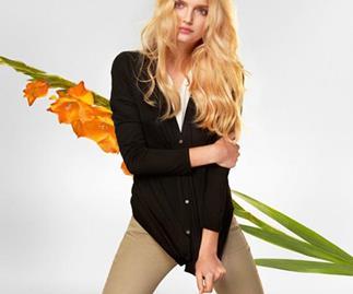 Lily Donaldson for the Uniqlo Silk and Cashmere Campaign 2013.