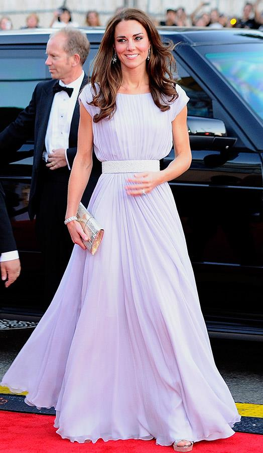 In a stunning lilac gown at the BAFTA Brits To Watch event on July 9, 2011 in Los Angeles.