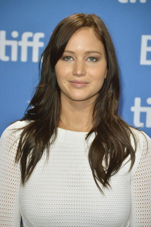 <strong>Jennifer Lawrence</strong> <br>She's the ultimate colour chameleon, going from a creamy Californian blonde to a dark brunette hue for her role as Katniss in the Hunger Games franchise.