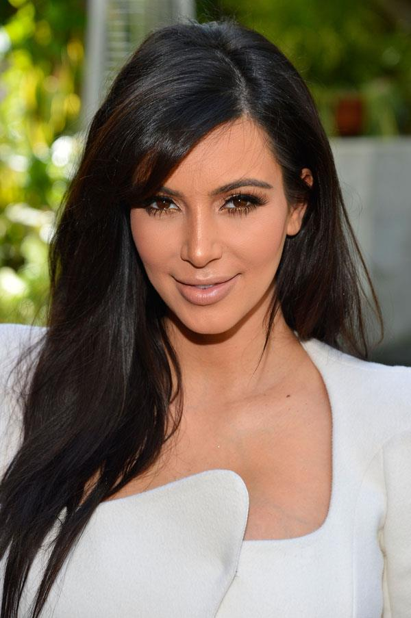 <strong>Kim Kardashian</strong> <br>Not one for mixing it up in the beauty department, Kardashian's long, dark brown hair and kohl-rimmed eyes is the reality star's signature beauty look...