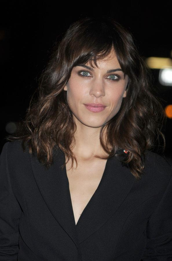<strong>Alexa Chung</strong> <br>But her latest rich chocolate hue adds a grown-up sensibility to her beauty look.
