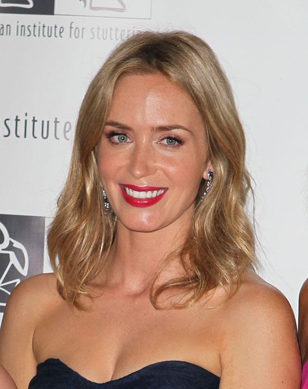 <strong>Emily Blunt</strong> <br>But her new honey highlights have a brightening effect on her skin.