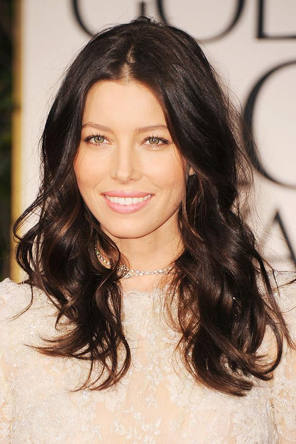 <strong>Jessica Biel</strong> <br>Whether chocolate brown or softly balayaged, Biel has the most covetable brunette locks we've ever seen.