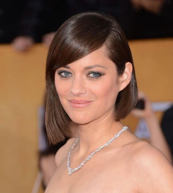 <strong>Marion Cotillard</strong> <br>This asymmetrical cut looks just as great worn with beachy waves as Cotillard's sleek do - as long as its always side-parted.