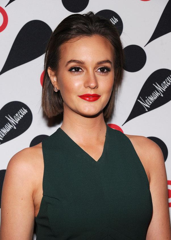<strong>Leighton Meester</strong> <br>Think a bob isn't versatile? Try sweeping your hair back off your face - keep the volume like Meester, or use a wet-look gel for an even sleeker look.