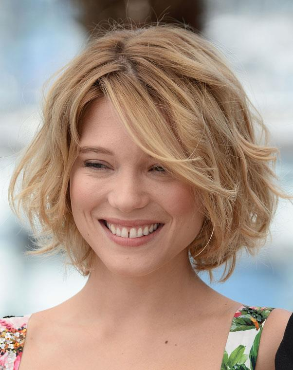 <strong>Lea Seydoux</strong> <br>Choppy layers add dimension to thick hair - avoid if your hair is fine.