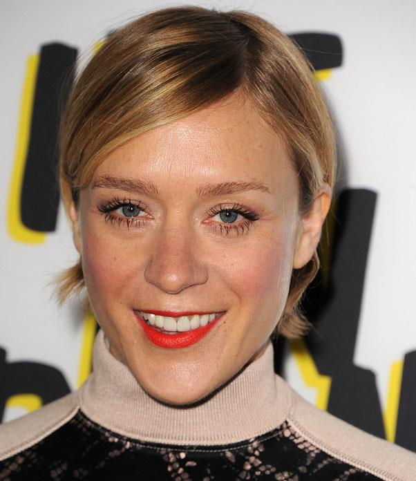 <strong>Chloe Sevigny</strong> <br>Make a side part and tuck your hair behind your ears for a quirky, feminine look.