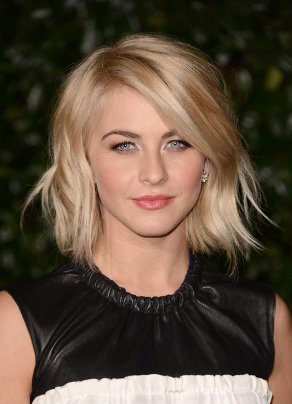 <strong>Julianne Hough</strong> <br>Sea salt spray and rootlifting volumisers are must-have products for these short 'dos.