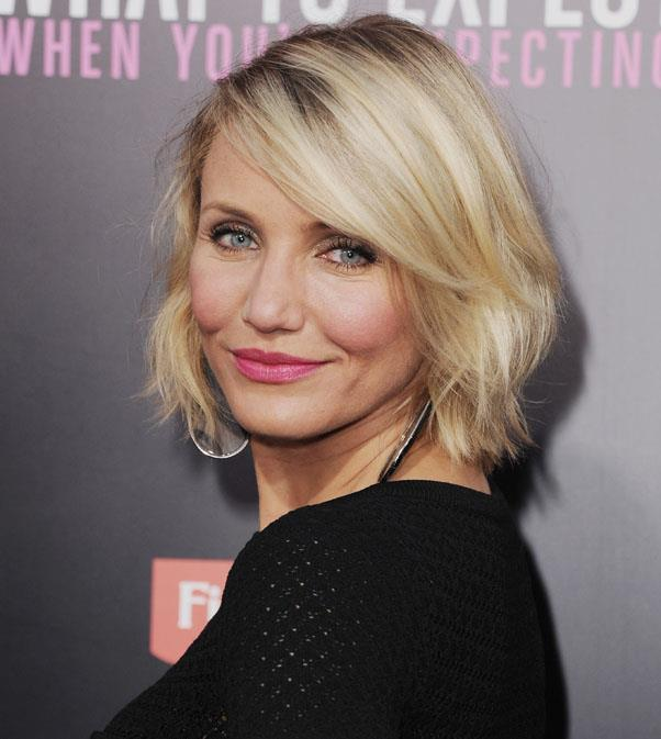 <strong>Cameron Diaz</strong> <br>We love Diaz's ultra-blonde creamy highlights - and with cut requiring regular trims, the damage to the hair will be minimal.