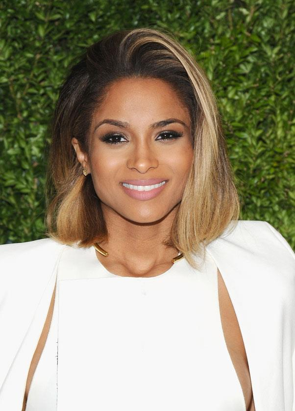<strong>Ciara</strong> <br>We love the singer's voluminous, swept to the side 'swoosh'.