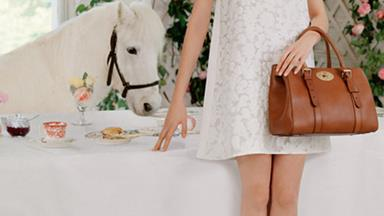 It's a Cara Delevingne and Mulberry tea party
