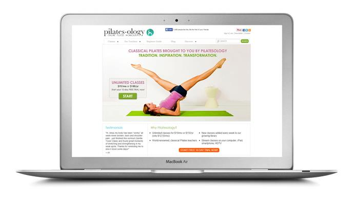 "<a href=""http://pilatesology.com/"">Pilatesology</a> This new website that allows you to take Pilates mat and apparatus classes from home, offering unlimited, HD quality streaming video classes for a $19 monthly membership (they also offer a free 10 day trial). <br>New classes are added every week and the teachers are experts in the Joseph Pilates method."