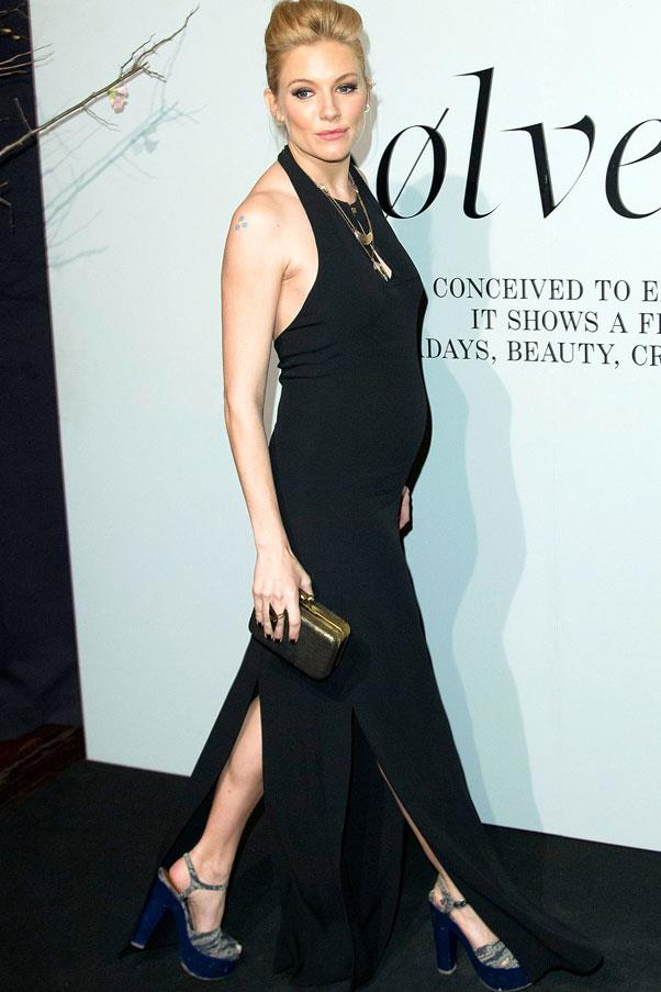 <strong>Sienna Miller</strong> <br>The British actress amped up the sex appeal for a night out on the town.