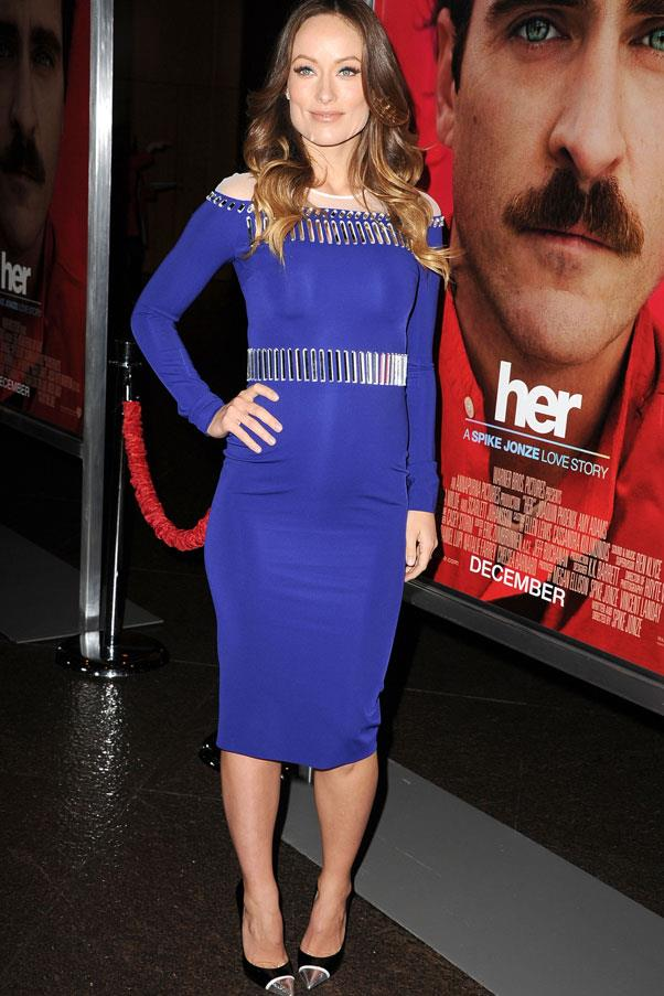 <strong>Olivia Wilde</strong> <br>Flaunt your growing curves in a skintight number like Wilde's at the premiere of her new film, <em>Her</em>.