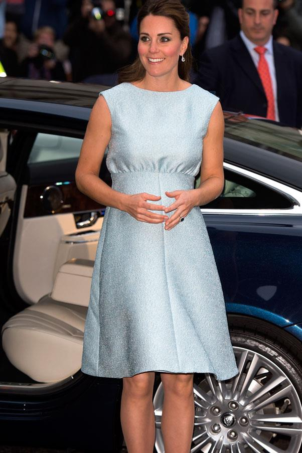 <strong>Kate, Duchess of Cambridge</strong> <br>We love this feminine shade of pastel on Kate.
