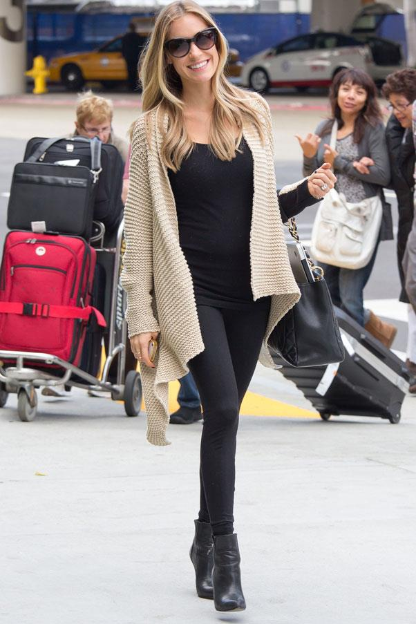 <strong>Kristen Cavallari</strong> <br>The reality star shows us how to wear tights as pants - and actually make it look good.