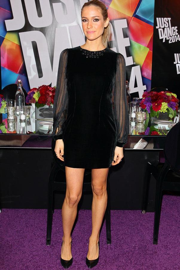 <strong>Kristen Cavallari</strong> <br>Black has been Cavallari's go-to colour throughout her pregnancy.