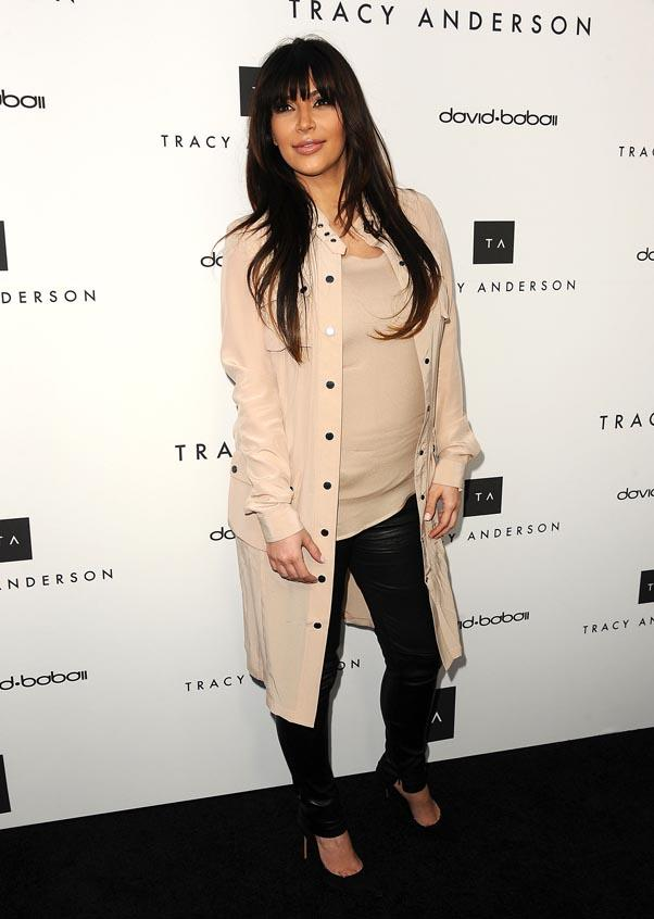<strong>Kim Kardashian</strong> <br>The reality star wasn't going to let a little thing like pregnancy get in the way of her glamazon style.