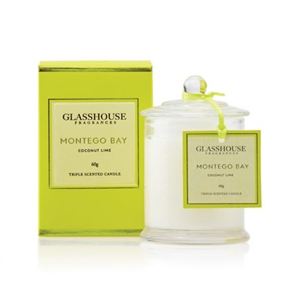 """**Montego Bay Coconut Lime candle by Glasshouse Fragrances, $44.95 <a href=""""http://www.glasshousefragrances.com/montego-bay-candle.html"""">glasshousefragrances.com</a>**<br><br>  We wish we could take this exotic, summery scent everywhere we go—it's *that* good."""