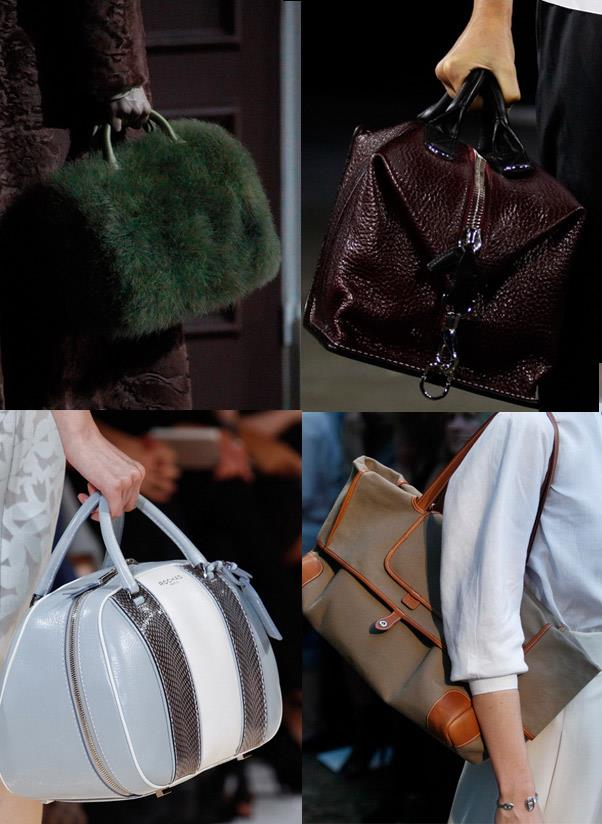 <strong>A weekender</strong><br> Take the chore out of packing for a long weekend or deciding what to take in your carry-on by having a luxe oversized designer duffle bag at the ready. <br> <i>Image: Louis Vuitton, Alexander Wang, Hermès, Rochas</i>