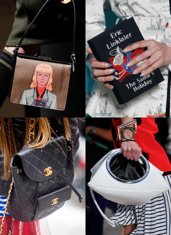 <b>A so-on-trend handbag</b><br> At least once in your life jump on the trend bandwagon and buy a bag that's so on-point and of-the-moment that you'll have street style photographers scrambling to take your picture. <br> <i>Image: Prada, Olympia Le-Tan, Céline, Chanel</i>