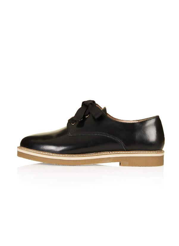 """<strong>Brogues</strong><br> Pound the pavements in a pair of smart lace-up leather brogues to tick the practicality and the so-mod boxes. They're a cool alternative to the ballet slippers and are definitely work-wear/weekend-wear/dance-floor-wear proof. <br> <i>Shop: Topshop Kynley Lace Up Shoes; <a href=""""http://us.topshop.com/webapp/wcs/stores/servlet/ProductDisplay?searchTerm=brogues&storeId=13052&productId=14023445&urlRequestType=Base&categoryId=&langId=-1&productIdentifier=product&catalogId=33060"""">topshop.com</a></i>"""